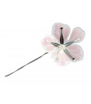 Blomst i lilla, pink og sølv, stor