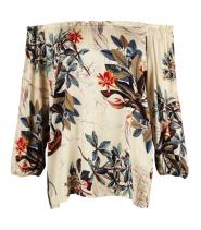 Blomster bluse fra Saint Tropez - N1399