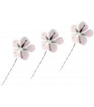 Blomster i lilla/pink/sølv, små