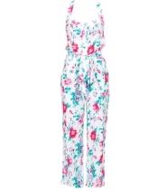 Blomstret buksedragt