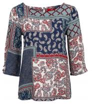 Bluse med 3/4 lange ærmer og print fra S.Oliver -