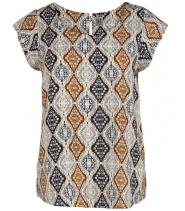 Bluse med print fra Saint Tropez - N1366