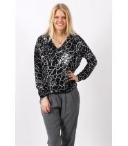 Crck print sweater