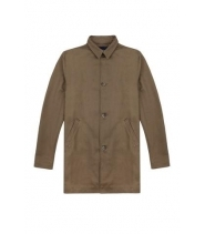 DENIM TRENCH - OLIVE