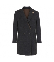 Lardini DOUBLE frakke mørkegrå/brun