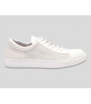 EDGAR - OFF WHITE PERFORATED - HVIDE SNEAKERS