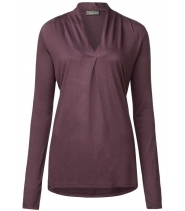 Elise V-neck pleat shirts