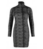 JACQARD ROLLNECK DRESS- SAINT TROPEZ N6515