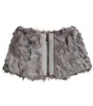 Lamb fur collar