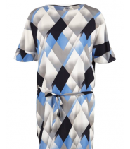 Løs kjole med print fra Saint Tropez - N6132
