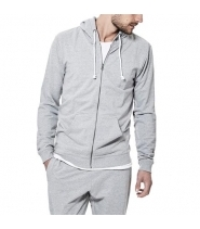 LOUNGE HOODIE - GREY MELANGE