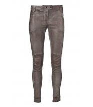 Metallic stretch slim pants