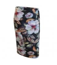 Nederdel i blomsterprint fra Drys