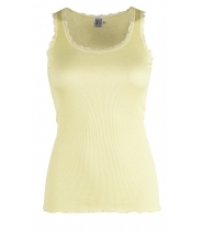 Rib tank top with lace