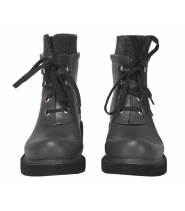 Short rubberboot w.felt collar
