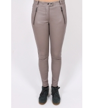 Stretch slim leather pants