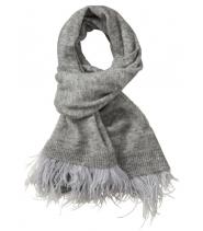Striktørklæde med frynser fra Gustav - 21802