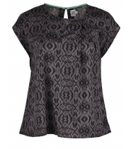 Top with pleat at front