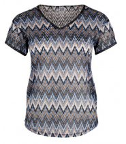 TOP WITH ZIGZAG KNIT PATTE - M1751-A