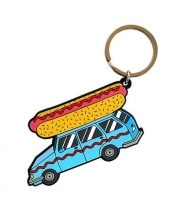VALLEY CRUISE HOT DOG CAR KEYCHAIN
