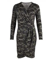 Wrap around printed dress