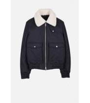 ZIPPED JACKET - NAVY