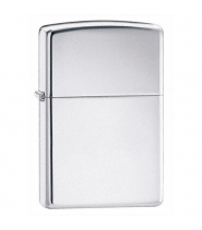 Zippo lighter - High Polish Chrome - Sølv